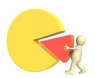 3d diagram robi kukiełkowemu round Obrazy Stock