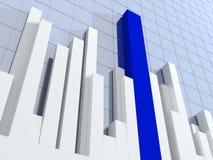 3d diagram, showing positive results. Blue 3d diagram, showing positive results Royalty Free Stock Image