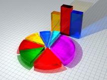 3D Diagrammen Stock Afbeeldingen