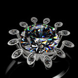 3d diamond ring Royalty Free Stock Photos