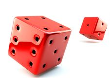 3D dice Royalty Free Stock Images