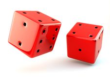 3D dice Stock Images