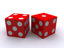 3d dice Stock Image