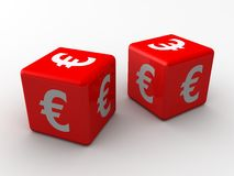 3d dice euro Royalty Free Stock Photo