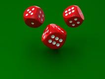 3d dices redl rendering Zdjęcie Royalty Free