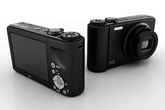 3d digital camera, studio render Stock Photography