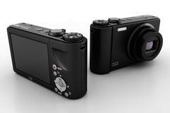 3d digital camera, studio render Stock Photography