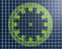 3D digital clock Stock Image