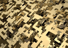 3D Digital Desert Camouflage Pattern royalty free illustration