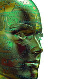 3D Digital menschliches Portrait lizenzfreie abbildung