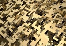 3D Digital Wüsten-Tarnung-Muster lizenzfreie abbildung