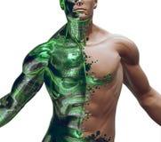 3D Digitale Bionische Hybride Royalty-vrije Stock Foto's