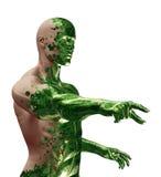 3D Digitale Bionische Technologie Stock Afbeeldingen