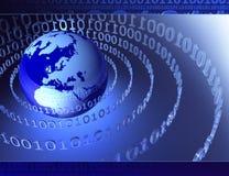 3D digitale wereld stock illustratie