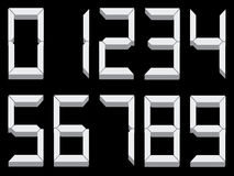 3d digits. Vector illustration of 3d digits isolated on black Stock Images