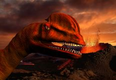 3D dinosaur Royalty Free Stock Photography