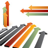 3d directional arrows Stock Image