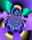 3d disc play. Abstract fractal image resembling 3d disc play Royalty Free Stock Images