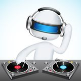 3d Disco Jockey in Vector. Illustration of 3d jockey in vector fully scalable mixing song Stock Image
