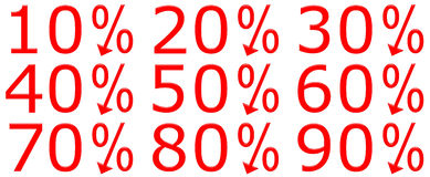 3D Discount Percentages Royalty Free Stock Images