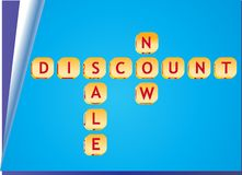 3d discount sale cubes Royalty Free Stock Photos
