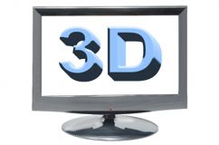 3D display Royalty Free Stock Image
