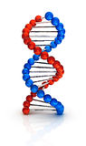3d DNA geeft terug Royalty-vrije Stock Foto's