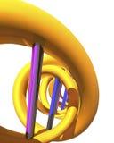 3d DNA geeft terug Royalty-vrije Stock Afbeelding