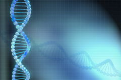 3d DNA model in blue background Stock Photography