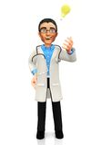 3D doctor�s idea Stock Photography
