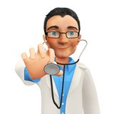 3D doctor Stock Image
