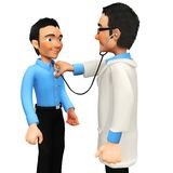 3D doctor Royalty Free Stock Photo