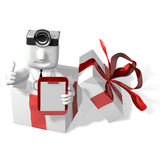 3d doctor checking up gifts Royalty Free Stock Images