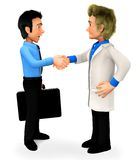 3D Doctor handshake Stock Photography