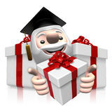 3d doctor man and gift Stock Images