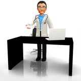 3D doctor at the office Stock Images