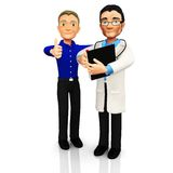 3D Doctor with a patient Stock Image