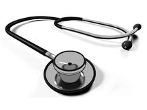 3d doctor's stethoscope Royalty Free Stock Photos
