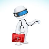 3d Doctor in Vector vector illustration