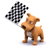 3d Dog at the finish line Royalty Free Stock Images