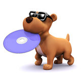 3d Dog has a DVD Royalty Free Stock Photos