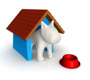3D Dog's house Stock Photos
