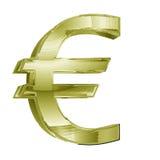 3d dolarowy euro złoty znak Zdjęcie Stock