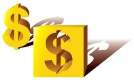 3d dolarowy znak royalty ilustracja