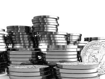 3d dollar coin Stock Images