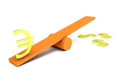 3d dollar en euro Royalty-vrije Stock Fotografie