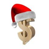 3d dollar santa Arkivfoto