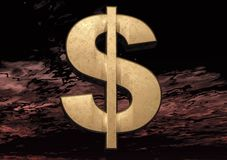 3D Dollar Sign Royalty Free Stock Photos