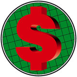 3D dollar works. Made with adobe illustrator. Finance dollar sign concept. Dollar sign royalty free illustration
