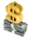 3d dollars Stock Photography